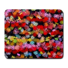 Colorful brush strokes                                             			Large Mousepad by LalyLauraFLM
