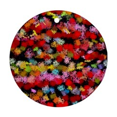 Colorful Brush Strokes                                             			ornament (round) by LalyLauraFLM