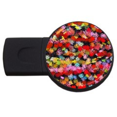 Colorful Brush Strokes                                             usb Flash Drive Round (2 Gb) by LalyLauraFLM