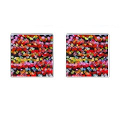 Colorful Brush Strokes                                             cufflinks (square) by LalyLauraFLM