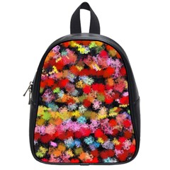 Colorful Brush Strokes                                             			school Bag (small) by LalyLauraFLM