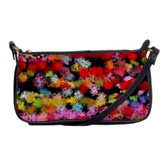Colorful Brush Strokes                                             			shoulder Clutch Bag by LalyLauraFLM