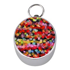 Colorful Brush Strokes                                             silver Compass (mini) by LalyLauraFLM