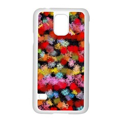 Colorful Brush Strokes                                             			samsung Galaxy S5 Case (white) by LalyLauraFLM