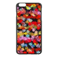 Colorful Brush Strokes                                             			apple Iphone 6 Plus/6s Plus Black Enamel Case by LalyLauraFLM