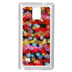 Colorful Brush Strokes                                             			samsung Galaxy Note 4 Case (white) by LalyLauraFLM