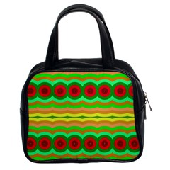 Circles And Waves                                              Classic Handbag (two Sides) by LalyLauraFLM