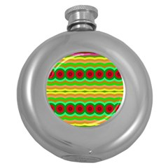Circles And Waves                                              			hip Flask (5 Oz) by LalyLauraFLM