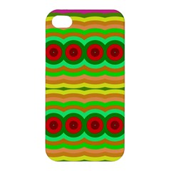 Circles And Waves                                              Apple Iphone 4/4s Hardshell Case by LalyLauraFLM