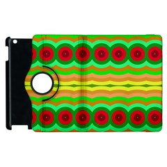 Circles And Waves                                              apple Ipad 2 Flip 360 Case by LalyLauraFLM