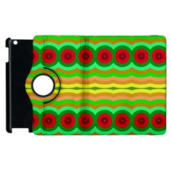 Circles And Waves                                              apple Ipad 3/4 Flip 360 Case by LalyLauraFLM