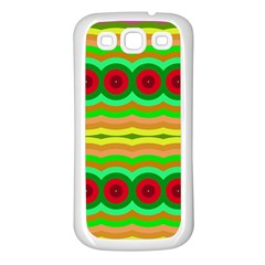 Circles And Waves                                              samsung Galaxy S3 Back Case (white) by LalyLauraFLM