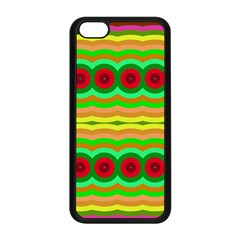 Circles And Waves                                              apple Iphone 5c Seamless Case (black) by LalyLauraFLM