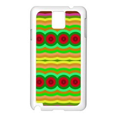 Circles And Waves                                              samsung Galaxy Note 3 N9005 Case (white) by LalyLauraFLM