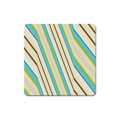 Bent Stripes                                               magnet (square) by LalyLauraFLM