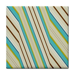 Bent Stripes                                               face Towel by LalyLauraFLM