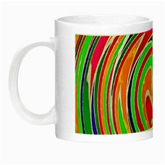 Colorful Whirlpool Watercolors                                                Night Luminous Mug by LalyLauraFLM