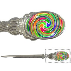 Colorful Whirlpool Watercolors                                                letter Opener by LalyLauraFLM