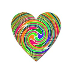 Colorful Whirlpool Watercolors                                                			magnet (heart) by LalyLauraFLM