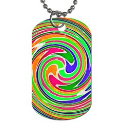 Colorful Whirlpool Watercolors                                                			dog Tag (one Side) by LalyLauraFLM
