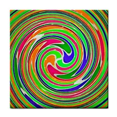 Colorful Whirlpool Watercolors                                                face Towel by LalyLauraFLM