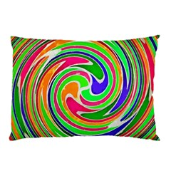 Colorful Whirlpool Watercolors                                                			pillow Case by LalyLauraFLM