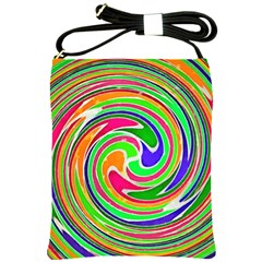 Colorful Whirlpool Watercolors                                                			shoulder Sling Bag by LalyLauraFLM