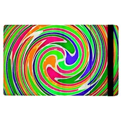 Colorful Whirlpool Watercolors                                                			apple Ipad 3/4 Flip Case by LalyLauraFLM