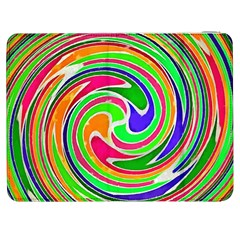 Colorful Whirlpool Watercolors                                                			samsung Galaxy Tab 7  P1000 Flip Case by LalyLauraFLM