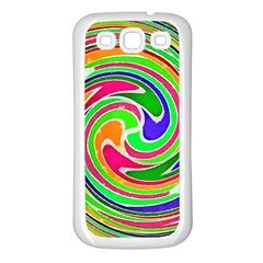 Colorful Whirlpool Watercolors                                                samsung Galaxy S3 Back Case (white) by LalyLauraFLM