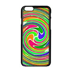 Colorful Whirlpool Watercolors                                                			apple Iphone 6/6s Black Enamel Case by LalyLauraFLM