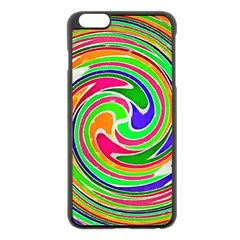 Colorful Whirlpool Watercolors                                                			apple Iphone 6 Plus/6s Plus Black Enamel Case by LalyLauraFLM