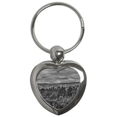 Ecuador Landscape Scene At Andes Range Key Chains (heart)  by dflcprints