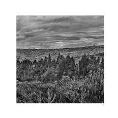 Ecuador Landscape Scene At Andes Range Small Satin Scarf (square)  by dflcprints