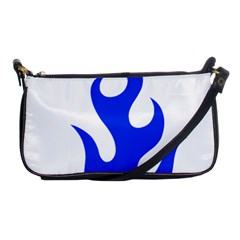 Blue Flames Shoulder Clutch Bags by TRENDYcouture