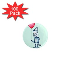 Tin Man 1  Mini Magnets (100 Pack)  by lvbart