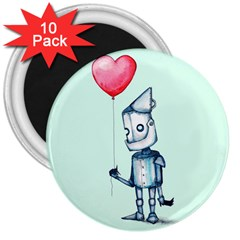 Tin Man 3  Magnets (10 Pack)  by lvbart