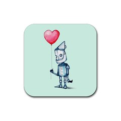 Tin Man Rubber Square Coaster (4 Pack)  by lvbart