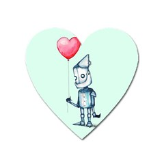 Tin Man Heart Magnet by lvbart