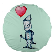 Tin Man Large 18  Premium Round Cushions by lvbart