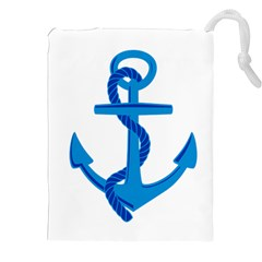 Blue Anchor Drawstring Pouches (xxl) by TRENDYcouture