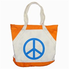 Blue Peace Accent Tote Bag by TRENDYcouture