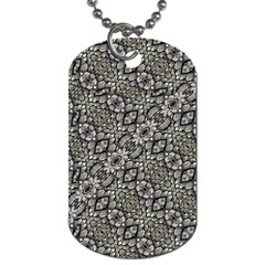 Silver Oriental Ornate  Dog Tag (one Side) by dflcprints