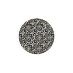 Silver Oriental Ornate  Golf Ball Marker (4 Pack) by dflcprints