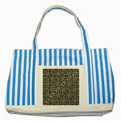 Silver Oriental Ornate  Striped Blue Tote Bag by dflcprints