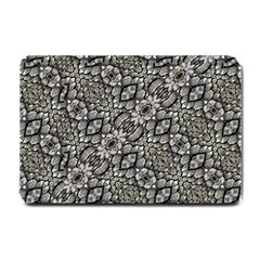 Silver Oriental Ornate  Small Doormat  by dflcprints