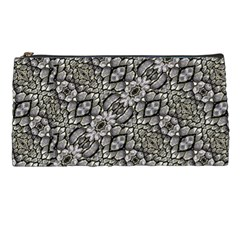 Silver Oriental Ornate  Pencil Cases by dflcprints
