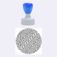 Silver Oriental Ornate  Rubber Round Stamps (medium) by dflcprints