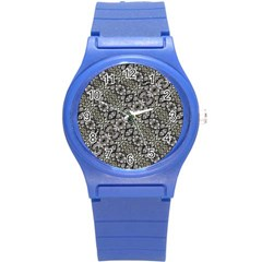 Silver Oriental Ornate  Round Plastic Sport Watch (s) by dflcprints