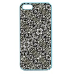 Silver Oriental Ornate  Apple Seamless Iphone 5 Case (color) by dflcprints